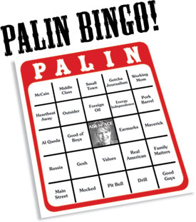 Sarah Palin Bingo for VP Debate